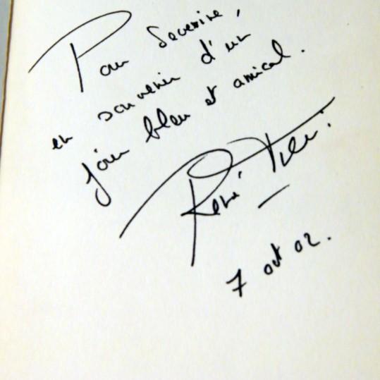 Autographe rené Frégni