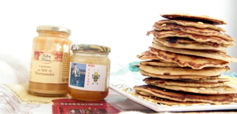 pancakes sans gluten miel